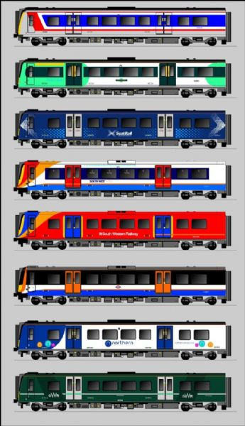 Class 350 / 450 EMU - Fictitious Liveries - OO